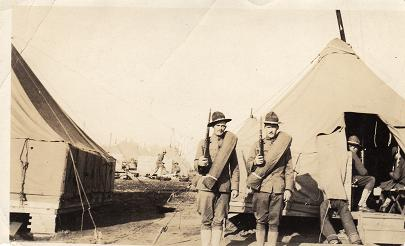 Roy Samuel Niles (on left) - 1896-1979 U.S. Army. Served during World War I  France